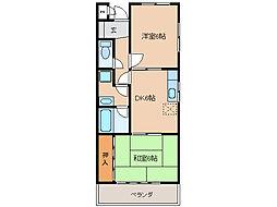 中央ヴィレッジS・H[303号室]の間取り