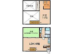 [テラスハウス] 愛知県小牧市岩崎5丁目 の賃貸【/】の間取り