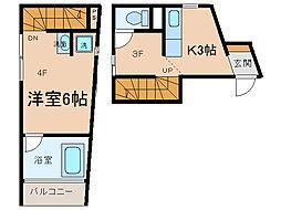 At.space[3階]の間取り