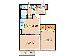 メゾンI・II[1階]の間取り