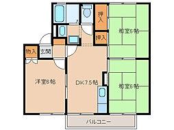 タウンKOSE5棟[1階]の間取り