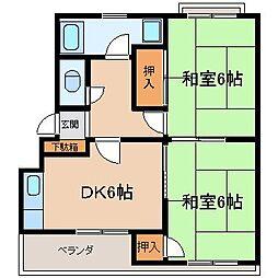 岩崎ハイツ[1階]の間取り