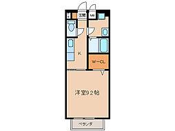 プランドールコート中央[1階]の間取り