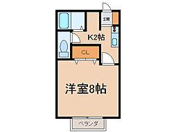 KEコーポ小牧[1階]の間取り