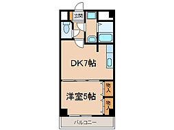 愛知県小牧市大字北外山の賃貸マンションの間取り