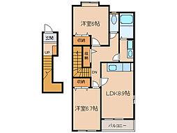 サンシャインハウス[2階]の間取り