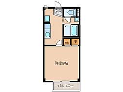 サニーハイツ川西[1階]の間取り