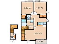 ラポールアネックスI[2階]の間取り