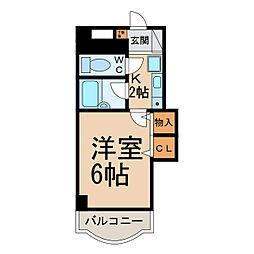 リアナ小牧アパートメント[1階]の間取り