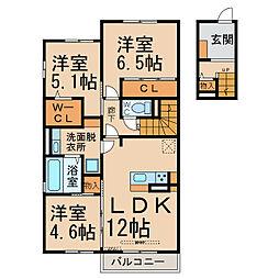 仮)D-room京和風枩浦様[2階]の間取り