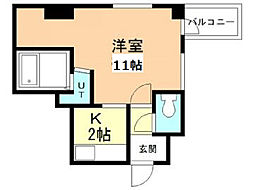 旭川2.3ビル[2階]の間取り
