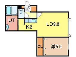 グランピア3.3kagura[2階]の間取り