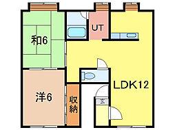 コーポぐれこII[2階]の間取り
