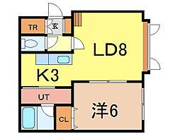 シオン[2階]の間取り