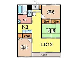フォルテ21[5階]の間取り