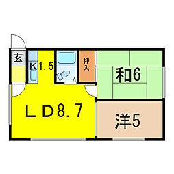 COCO724B[1階]の間取り
