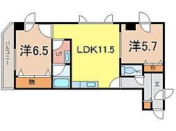 6・2ビル[6階]の間取り