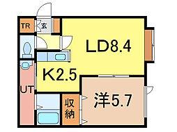 ロワールC[2階]の間取り