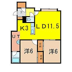 カルドII[1階]の間取り