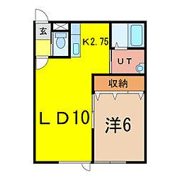 NLCII[1階]の間取り