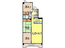 デベックス豊岡43[8階]の間取り