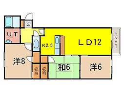 フロンティア高崎[1階]の間取り