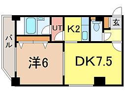 ナッツSPIRIT2[4階]の間取り