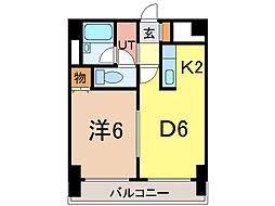 ナッツSPIRIT2[5階]の間取り