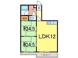 ウインザー8・8[8階]の間取り