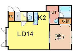ステラガーデンII[2階]の間取り