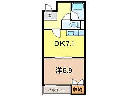中島プラザビル[3階]の間取り