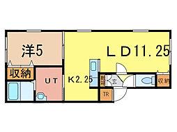XMHU(ムー)[1階]の間取り