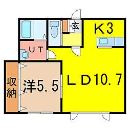 ファンタジスタ[2階]の間取り