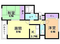 ガーデンハウス[3階]の間取り