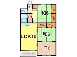 カムイ24B[4階]の間取り