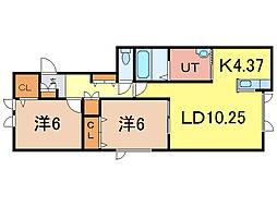 WINDAM A[1階]の間取り