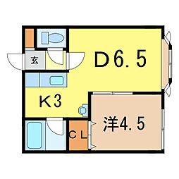 プレキャトランII[1階]の間取り