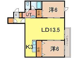 ラヴェニュー[2階]の間取り