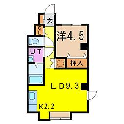 UN ESPACE四条邸[2階]の間取り