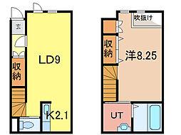 W LIP V[1階]の間取り