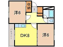 プラザ72[1階]の間取り