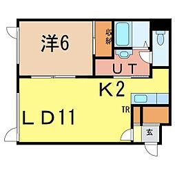 コンフォートIII[2階]の間取り