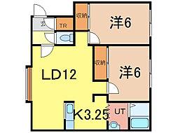イースト310 C[2階]の間取り