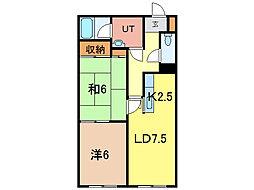 クレスト5.8B棟[2階]の間取り