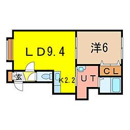 CECIL[1階]の間取り