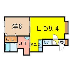 CECIL[2階]の間取り