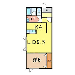 ノーブル旭町[2階]の間取り