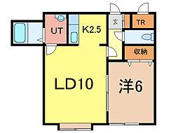 グレートビューアイ・23A[1階]の間取り
