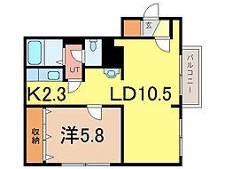 タウンズ6・2[1階]の間取り