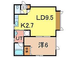 アネレット壱号館[1階]の間取り